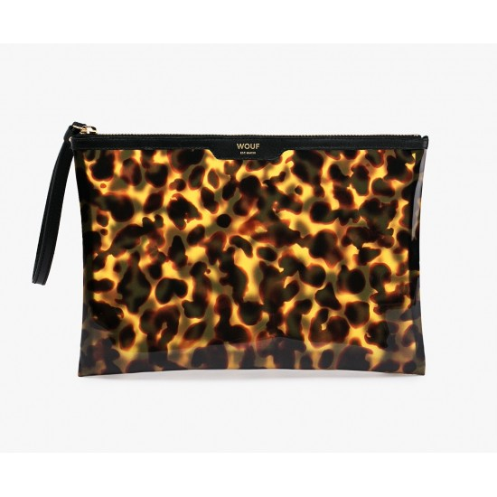 Woouf - Grand clutch imprimé léopard