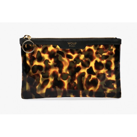 Woouf - Petit clutch imprimé léopard