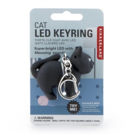 Kikkerland - Porte clés chat