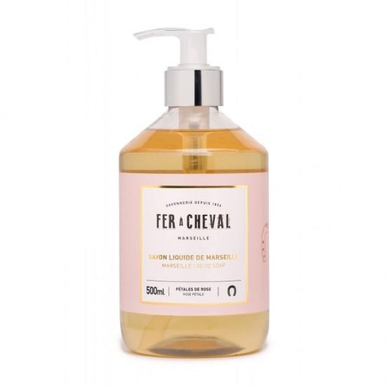 Fer à cheval - Savon de Marseille liquide parfum rose