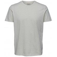 Selected homme - T-shirt blanc à motifs