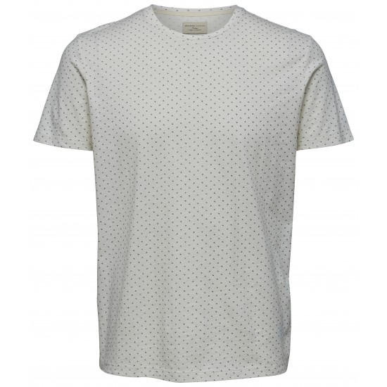 Selected homme - T-shirt blanc à motifs
