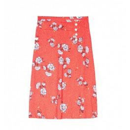 Grace et Mila - Jupe longue rouge imprimé fleurs