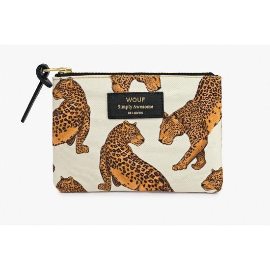 Woouf - Petite pochette imprimé léopard