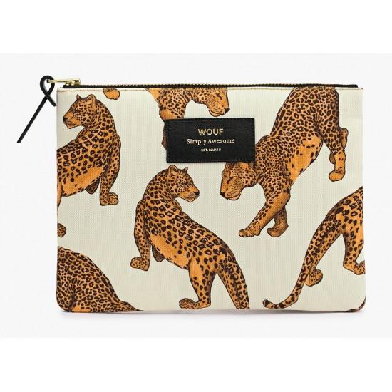 Woouf - Pochette large imprimé léopard