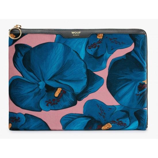 Woouf - Housse velours orchidée pour tablette et Ipad Sleeve