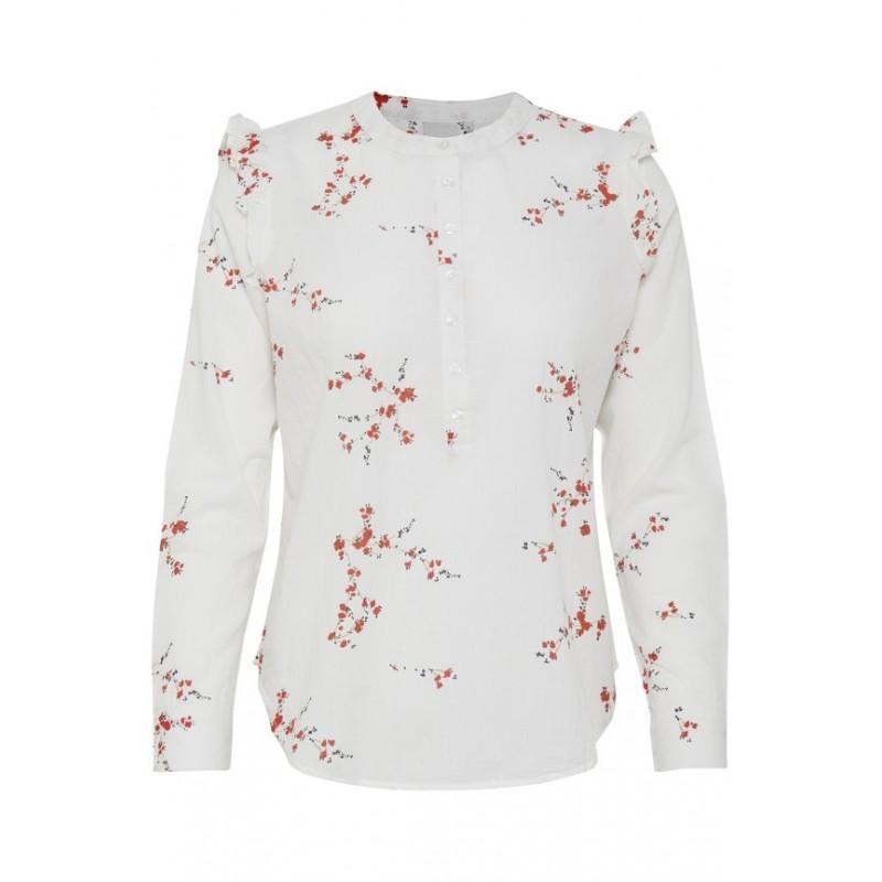 Ichi - Blouse blanche à motifs. Loading zoom bcd3ddbe0bae