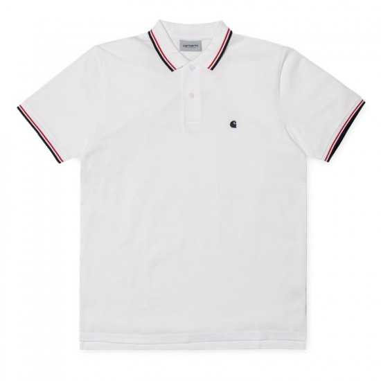 Carhartt wip - Polo blanc pour homme