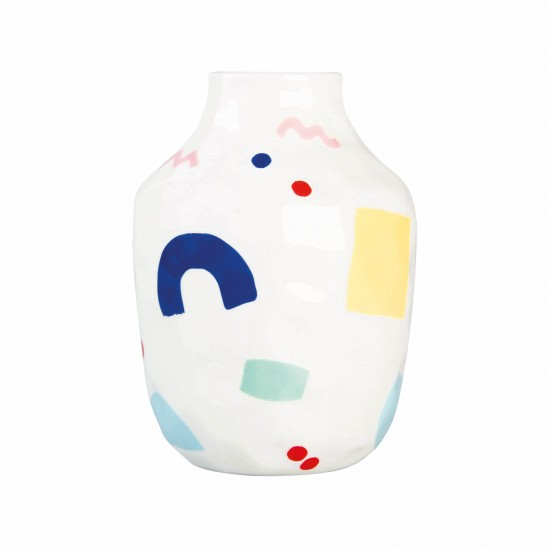 Klevering - Vase graphique en porcelaine