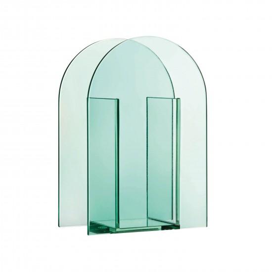 Klevering - Vase transparent en verre