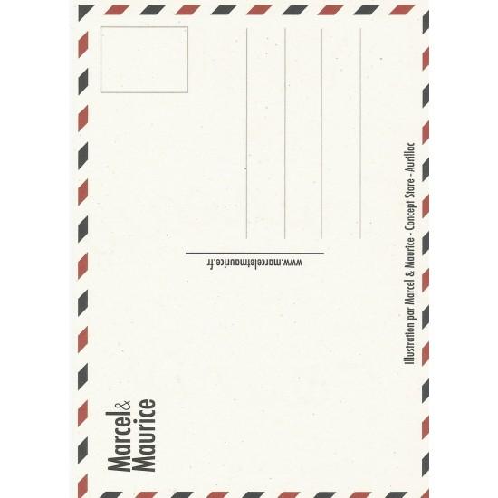 Marcel & Maurice - Carte postale Saucisse Truffade
