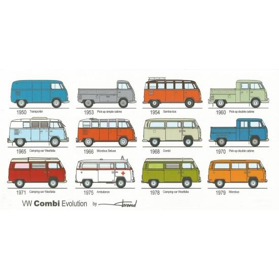 Dabel Prod - Carte VW Combi évolution