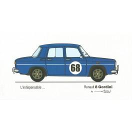Dabel Prod - Carte Renault 8 Gordini