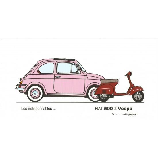 Dabel Prod - Carte Fiat 500 et Vespa