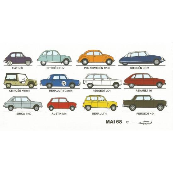 Dabel Prod - Carte voitures mai 68
