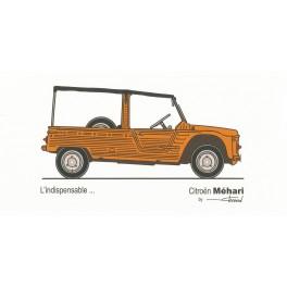 Dabel Prod - Carte Citroën Méhari