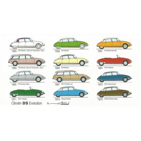 Dabel Prod - Carte Citroën DS évolution