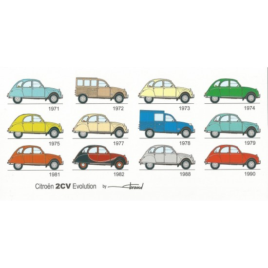 Dabel Prod - Carte Citroën 2CV évolution