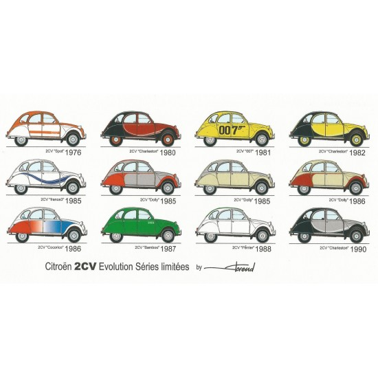 Dabel Prod - Carte Citroën 2CV limitées évolution