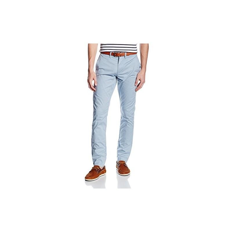 Selected homme - Pantalon chino bleu ciel avec ceinture. Loading zoom 5e648114c01