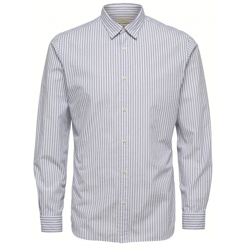 5189e824ec0 Selected homme - Chemise blanche à rayures slim fit