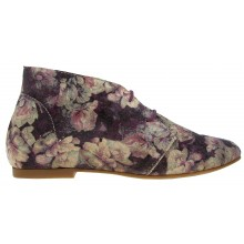 Ippon Vintage - Desert Boots Fleuries couleur prune