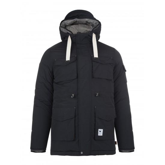 Bellfield - Manteau parka 2en1 noir à capuche