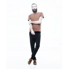 Dr Denim - T-shirt coton bio orange moucheté