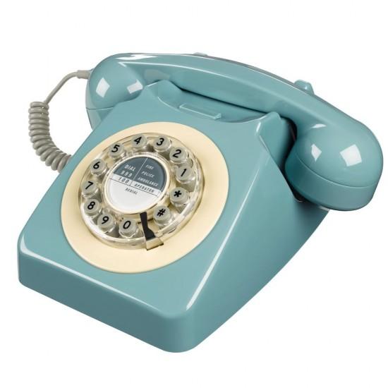 Wild & Wolf - Téléphone rétro 746 bleu clair