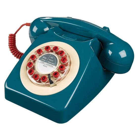 Wild & Wolf - Téléphone rétro 746 bleu pétrole