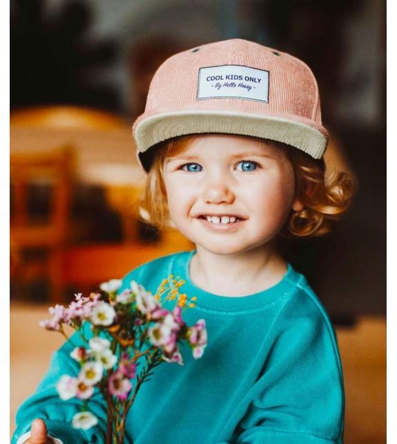 Hello Hossy - Casquette enfant en velours rose