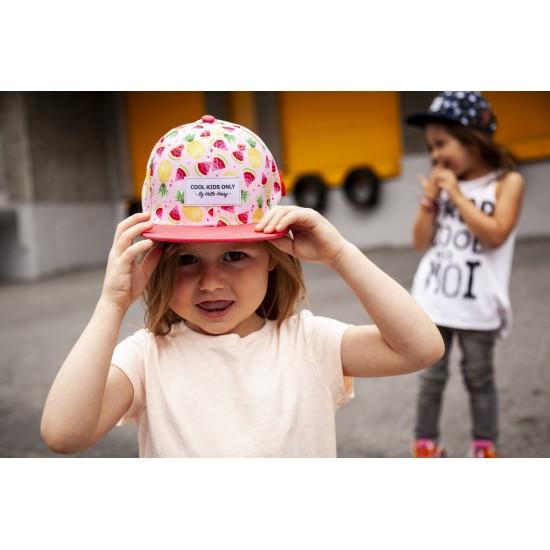 Hello Hossy - Casquette enfant rose à motifs