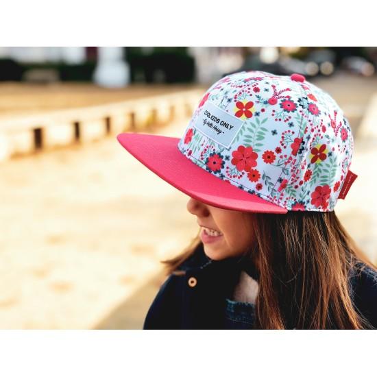 Hello Hossy - Casquette enfant rose à fleurs