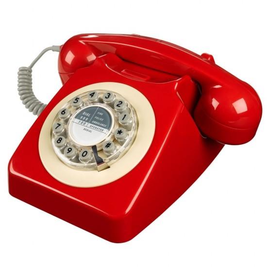 Wild & Wolf - Téléphone rouge rétro 746