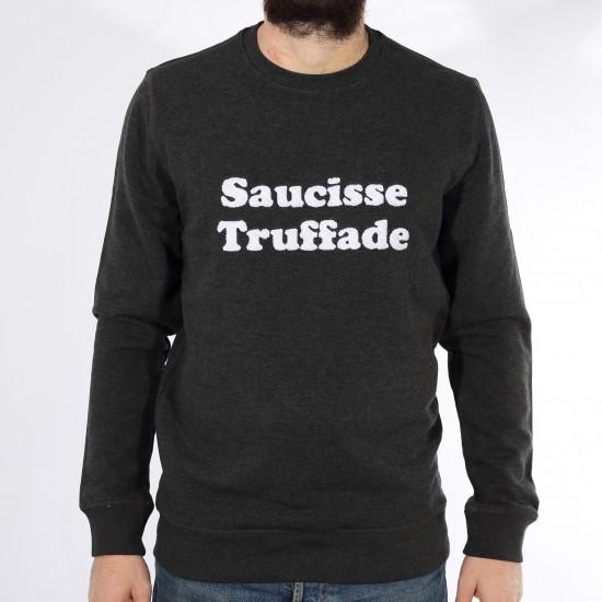 Saucisse Truffade - Sweat noir avec broderie