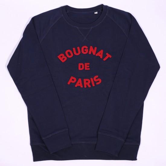 Bougnat de Paris - Sweat marine broderie rouge