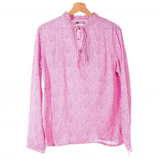 B.young - Blouse rose à pois