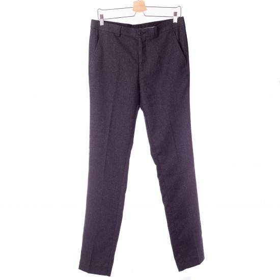 Selected homme - Pantalon chino marine en laine
