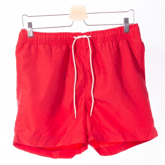 Selected homme - Short de bain rouge