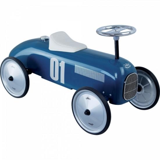Vilac - Voiture porteur enfant en métal bleu pétrole