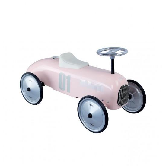 Vilac - Voiture porteur enfant en métal rose tendre