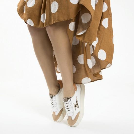 Vanessa Wu - Baskets éclair léopard à lacets
