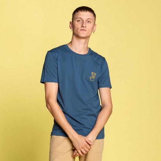 Olow - Tee shirt bleu palm hand