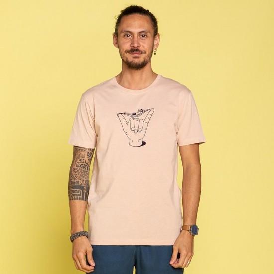 Olow - Tee shirt rose hang loose