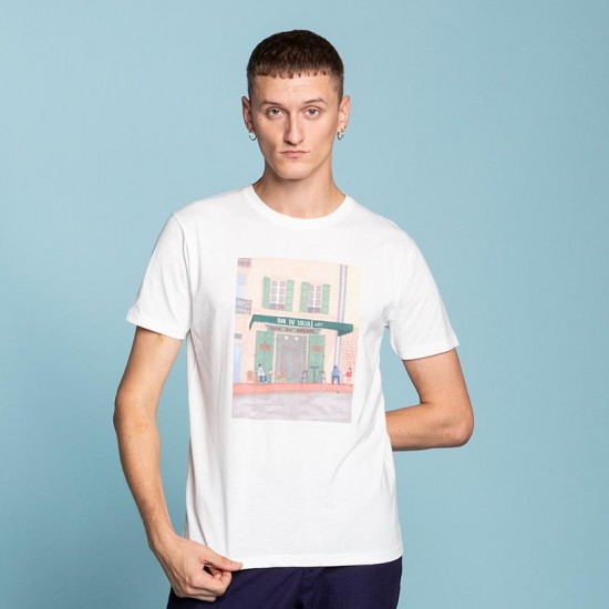 Olow - Tee shirt blanc bar du soleil