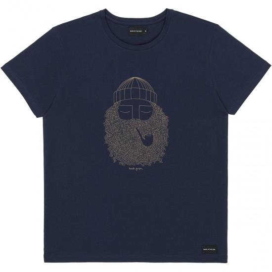 Bask in the sun - T-shirt marine smoking pipe