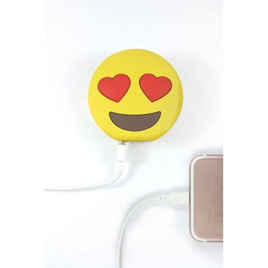 Mojipower - Batterie de secours smiley love
