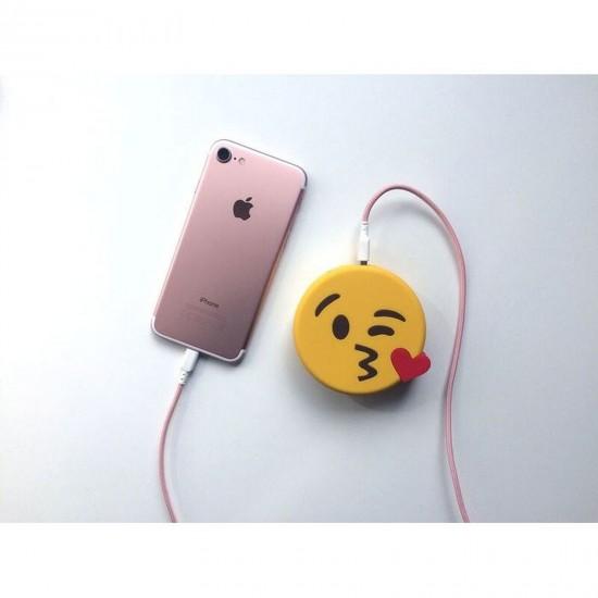 Mojipower - Batterie de secours smiley bisous