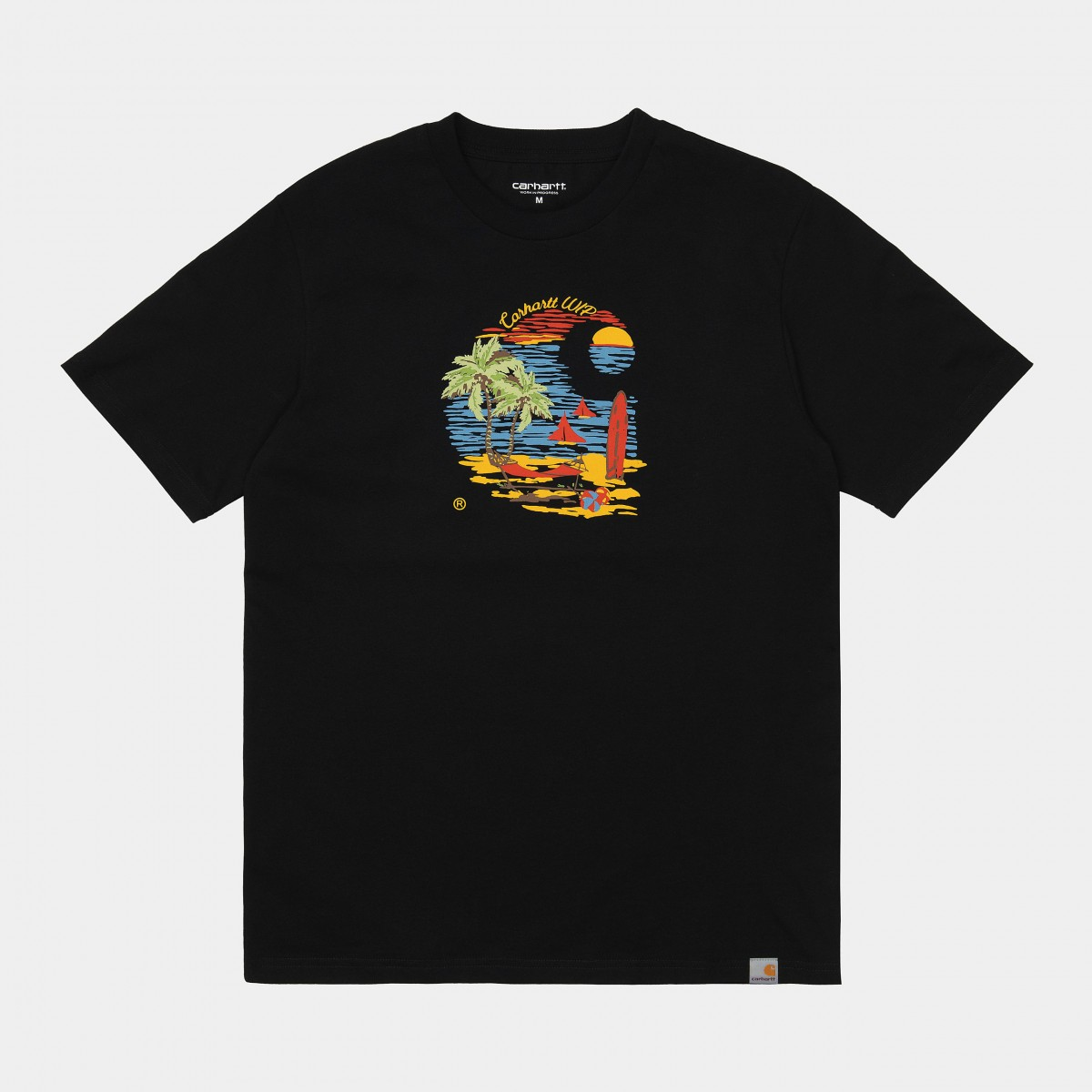 Carhartt WIP - T-Shirt noir homme Beach