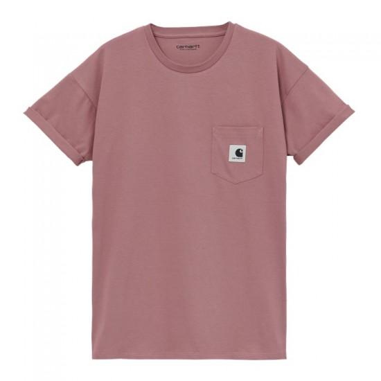 Carhartt WIP - Tshirt rose avec poche